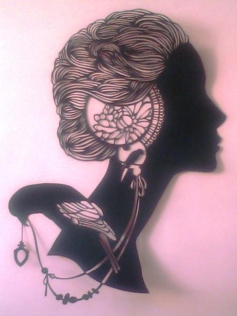 MYSTIC WOMAN PAPERCUT ART