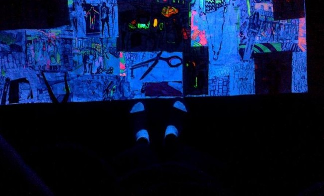 neon light and colours