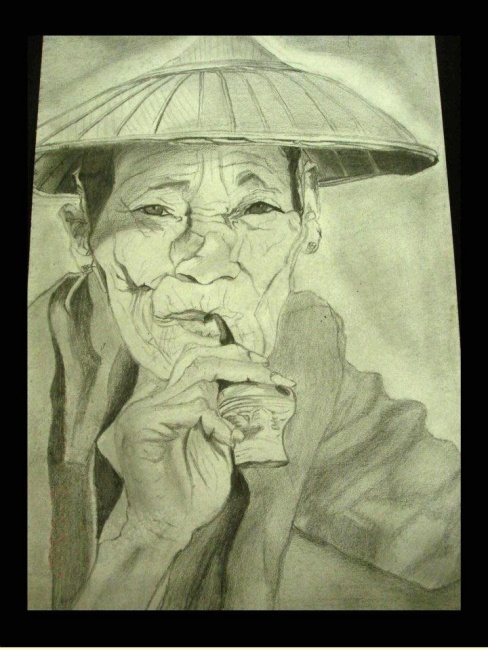 """""""Chinese grandpa with pipe"""""""