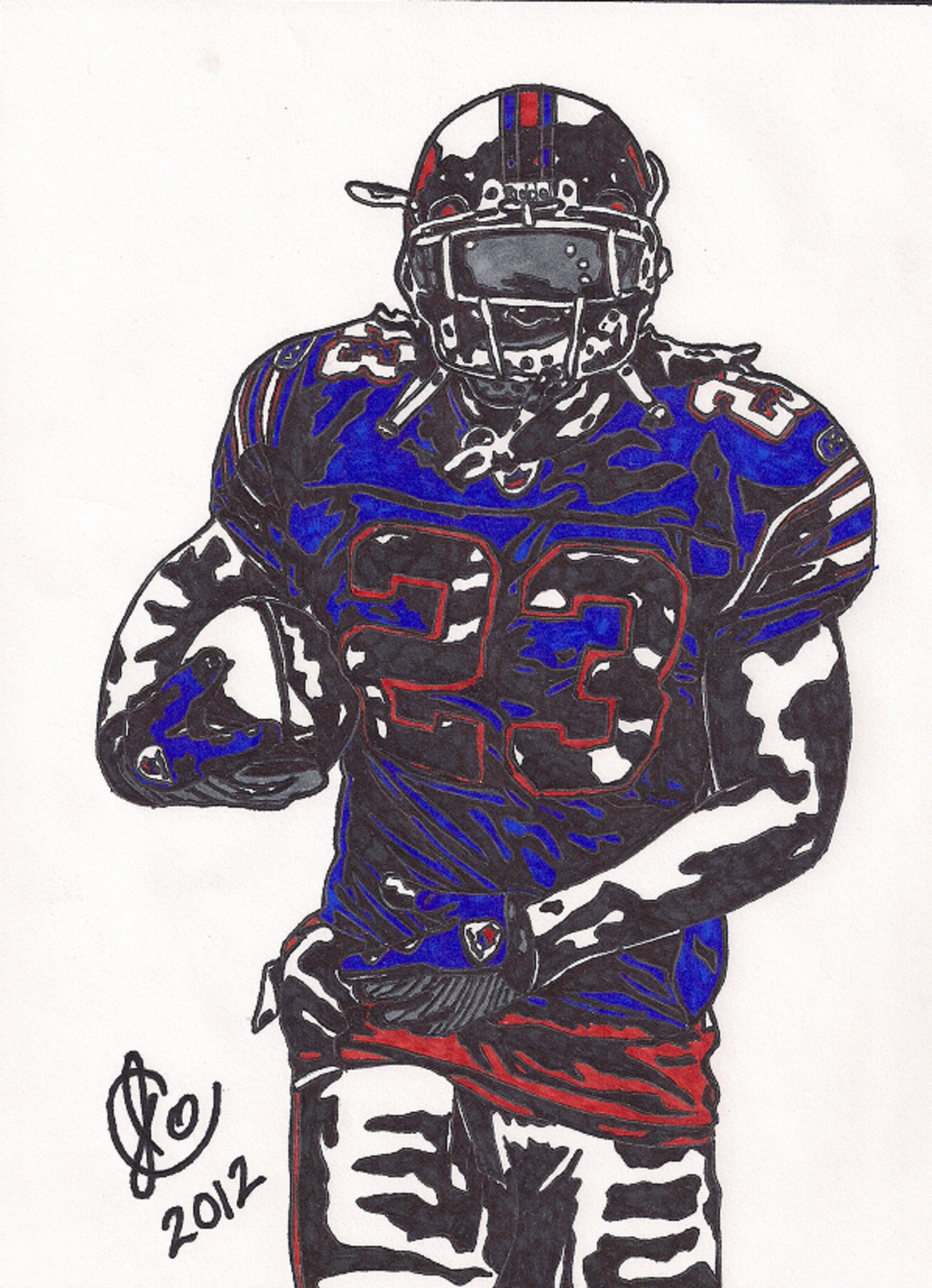 Marshawn Lynch Drawing