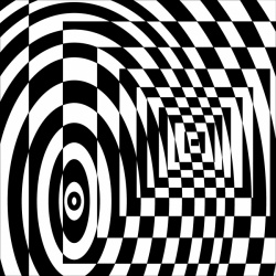 Circles And Squares Tunnel Illusion