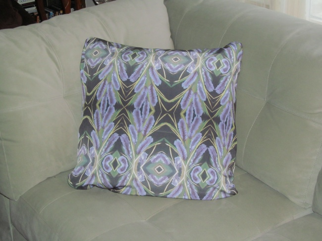 Pillow from Lilac Powder Puff Painting