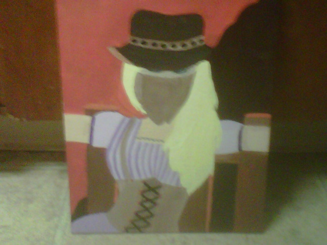 Cowgirl original painting