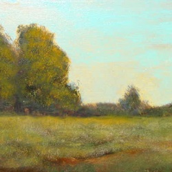 Original tonalist oil painting on stretched canvas.