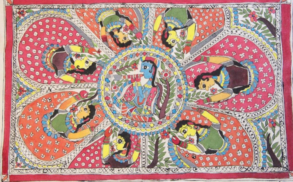 Lord Krishna And Gopis Raslila Lord Krishna With