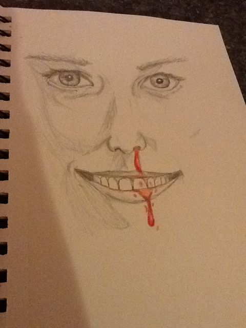Laughing With A Mouth of Blood