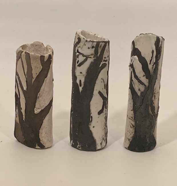 Winter Tree Vases
