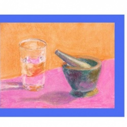 Mortar and Pestle and Glass
