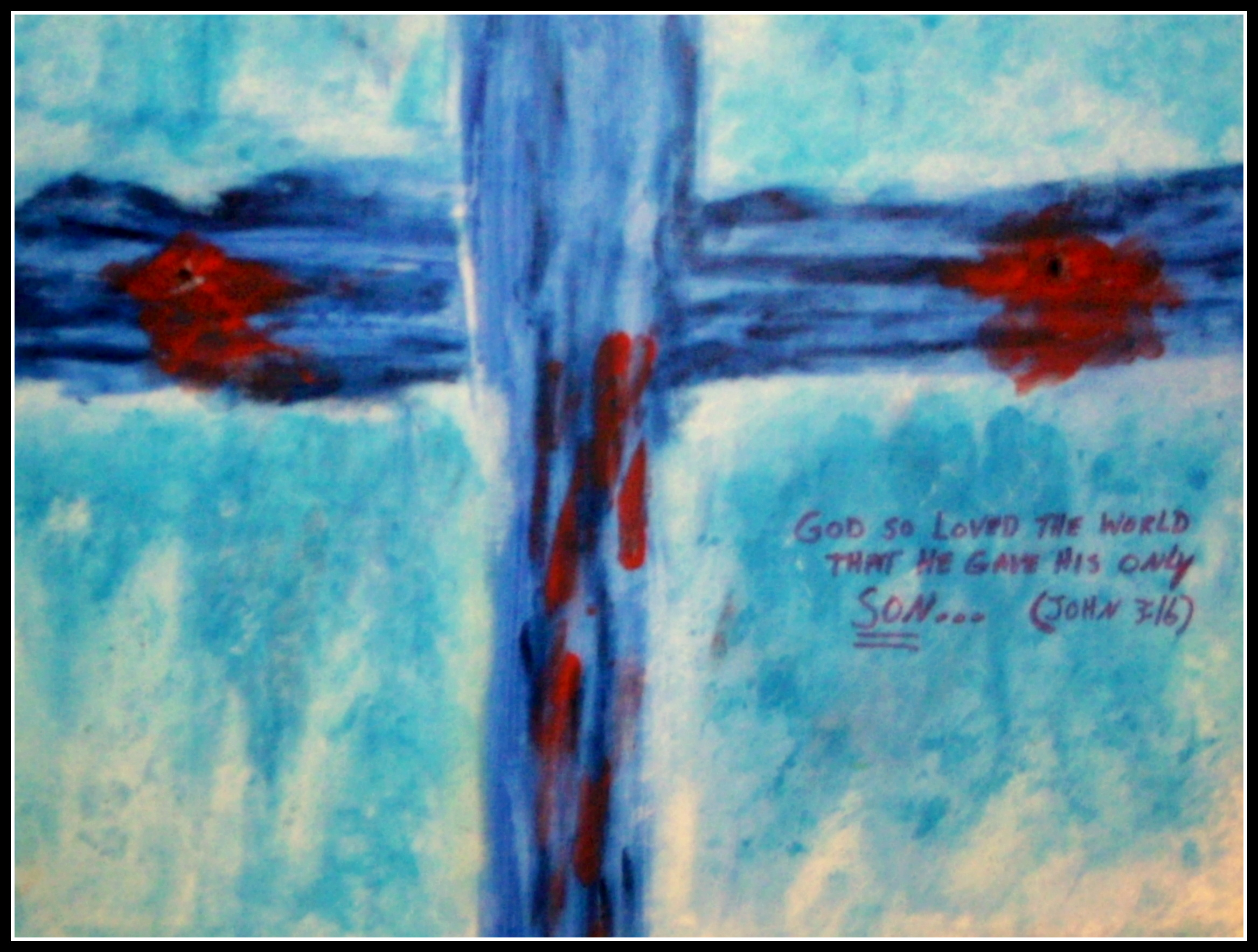 THE EMPTY CROSS /ORIGINAL/ACRYLIC   wper   Foundmyself Empty Cross Painting