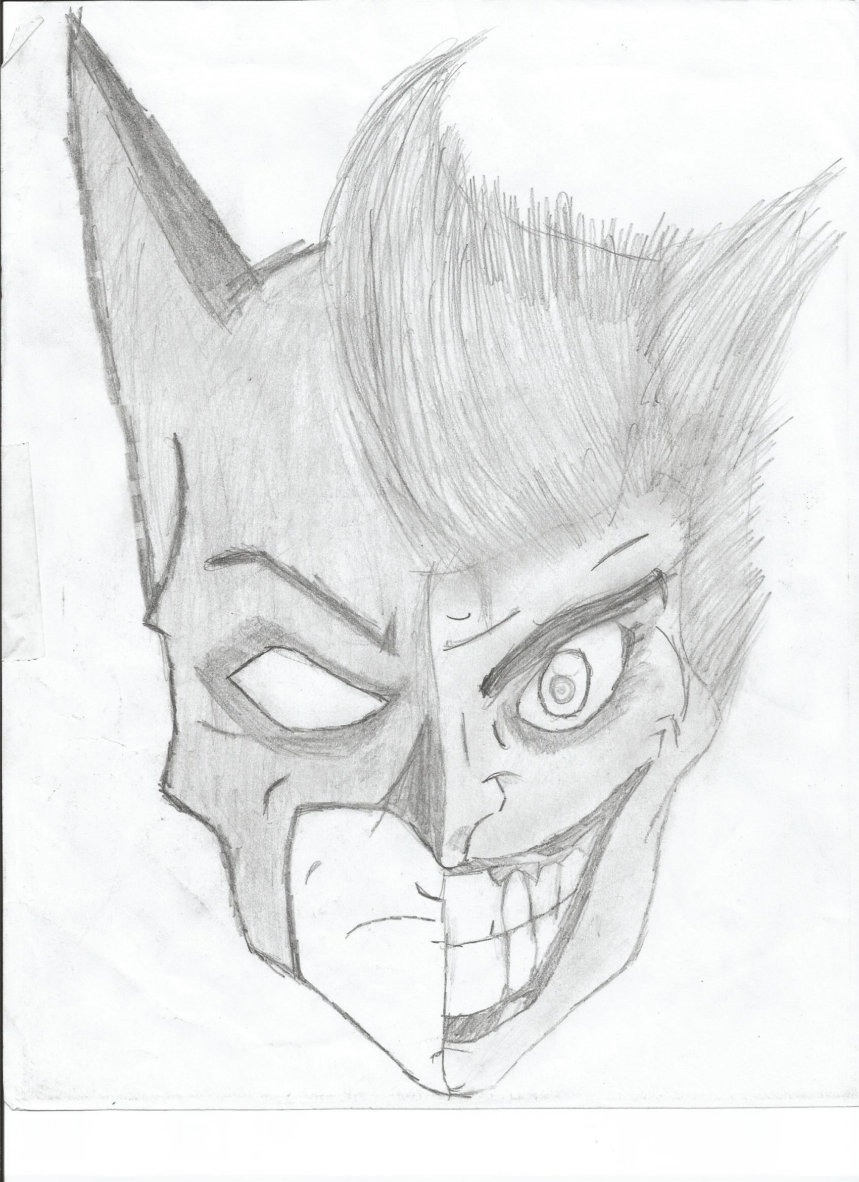 Batman-Joker Portrait Sketch | Alex Quitmeyer | Foundmyself