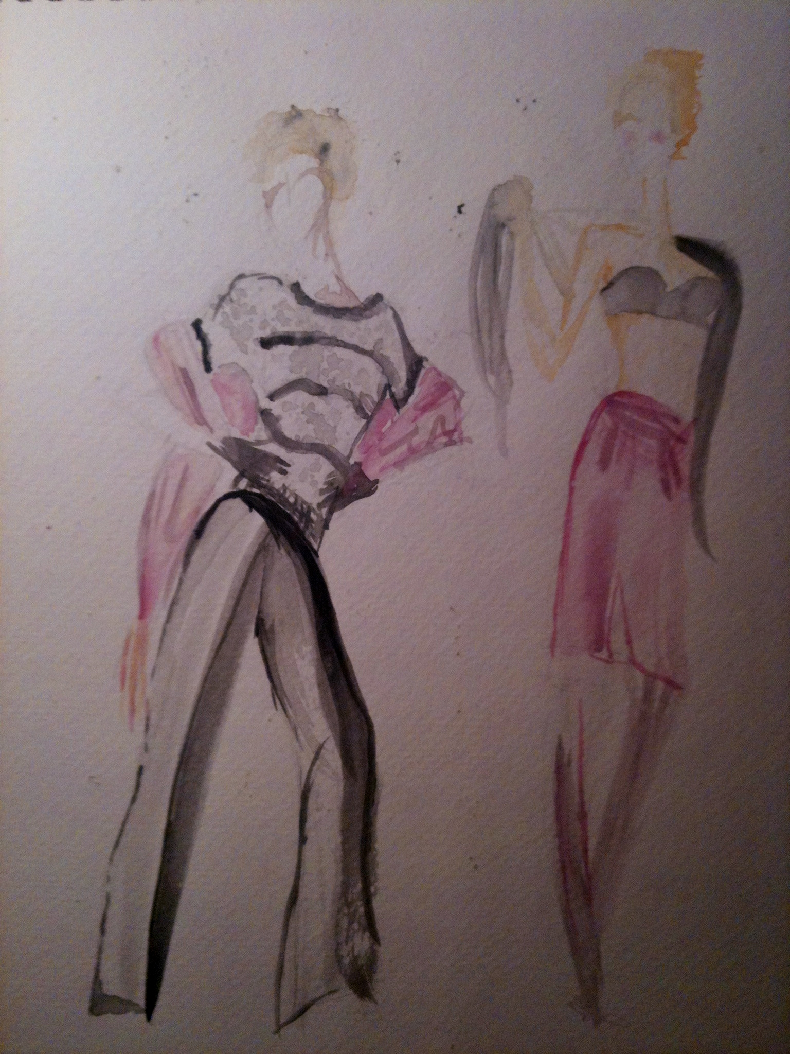 Fashion Illustration Draping Study Bria Anderson Foundmyself