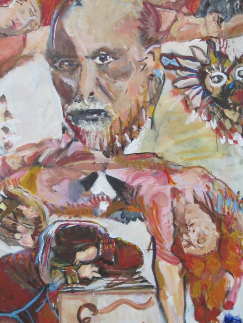 American Freud close-up