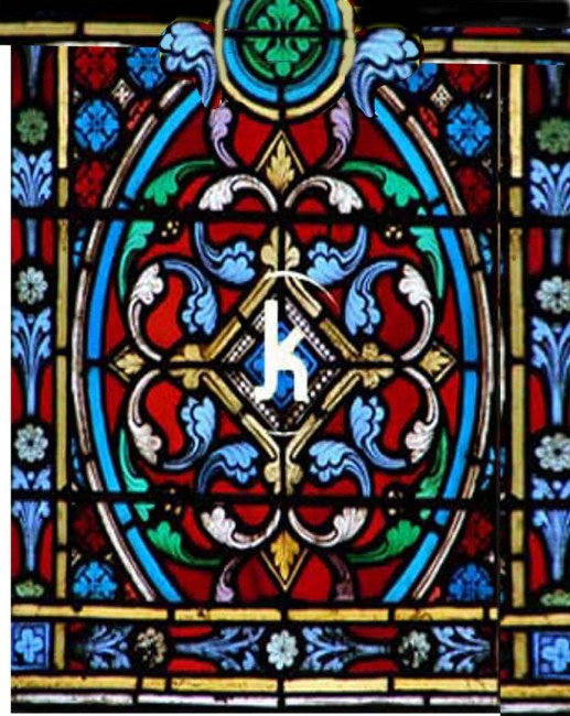 Gothic Faux Stained Glass