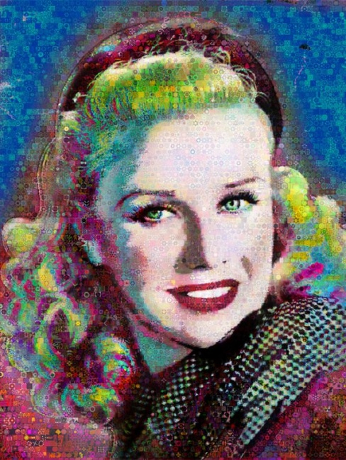 Ginger Rogers_Abstract_Collage