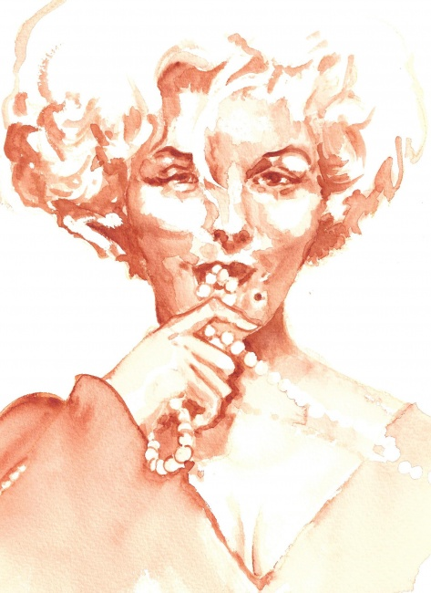 Marylin with Pearls
