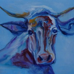 Bossy - Cow painting