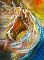 Abstract horse painting - Thunderbolt 11