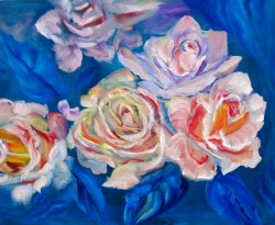 Roses on Turquoise