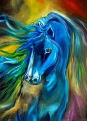 Colorful horse painting - Thunderbolt 11