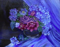 Blue Study - Flower still life
