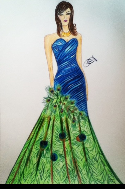 Fashion dress sketches free