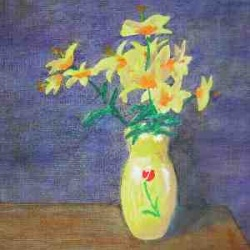 Yellow Vase and Flowers