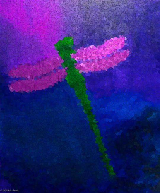 GREEN DRAGONFLY MOSAIC