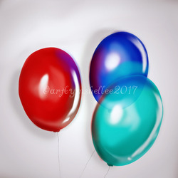 Hand Painted Balloons