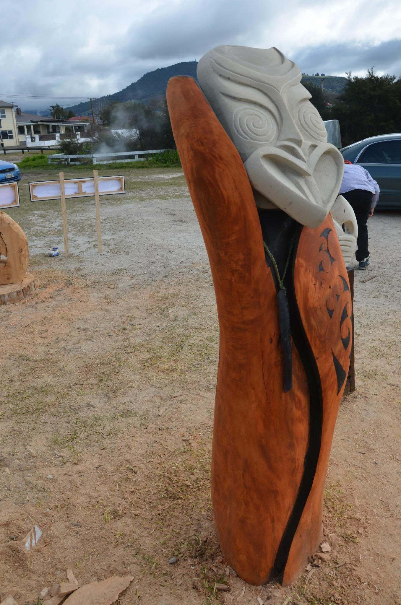 Original maori new zeland sculpture paul bottomley foundmyself