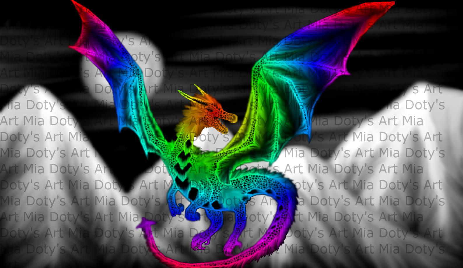 Rainbow Dragon  Melissa Doty  Foundmyself