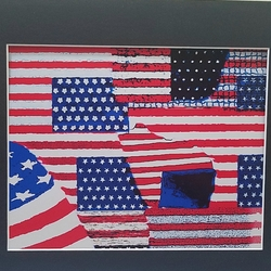 Patriotic love your USA flag print