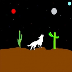 White Wolf Wild Digital Abstract Art By Cheyene M Lopez