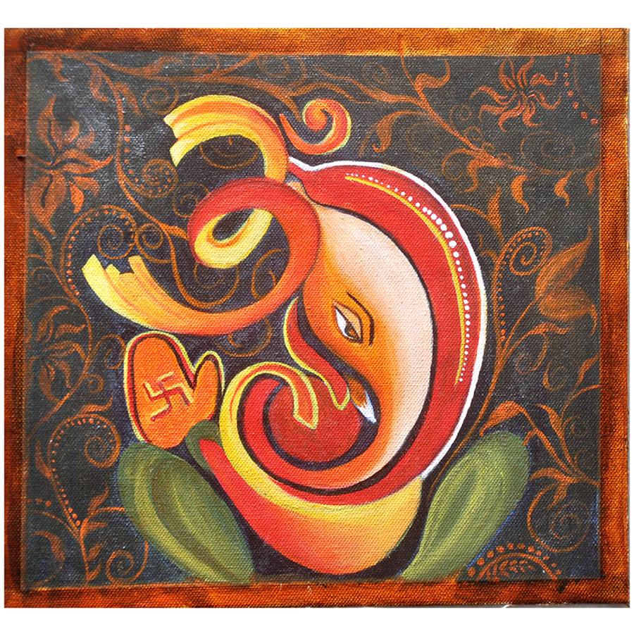 Vinayka The Great Ganesha Original Acrylic Painting