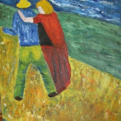 Sower with wife after Van Gogh