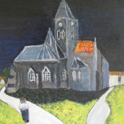 Church at Auvers after Van Gogh