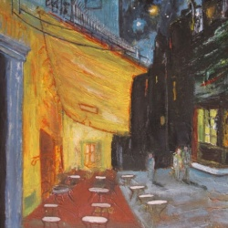 Cafe Terrace at Night - empty. After Van Gogh