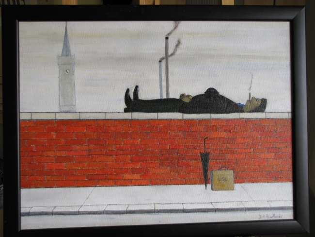 Man on Wall (Lowry)