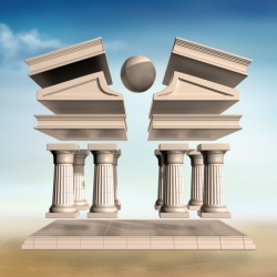 Surreal Greek Temple