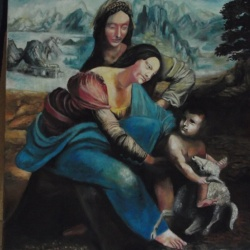 Madonna and child with Saint Ann (donated to a local church)