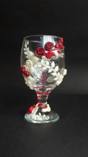 floral glass.