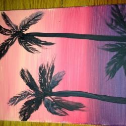 California Palm Beach Sunset CANVAS