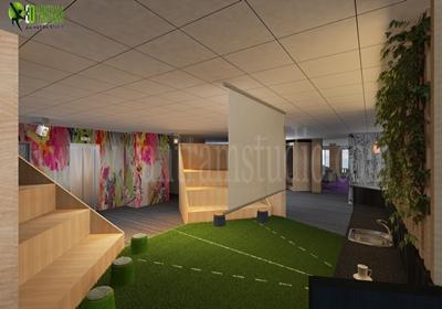 Modern Office Interior Design Rendering