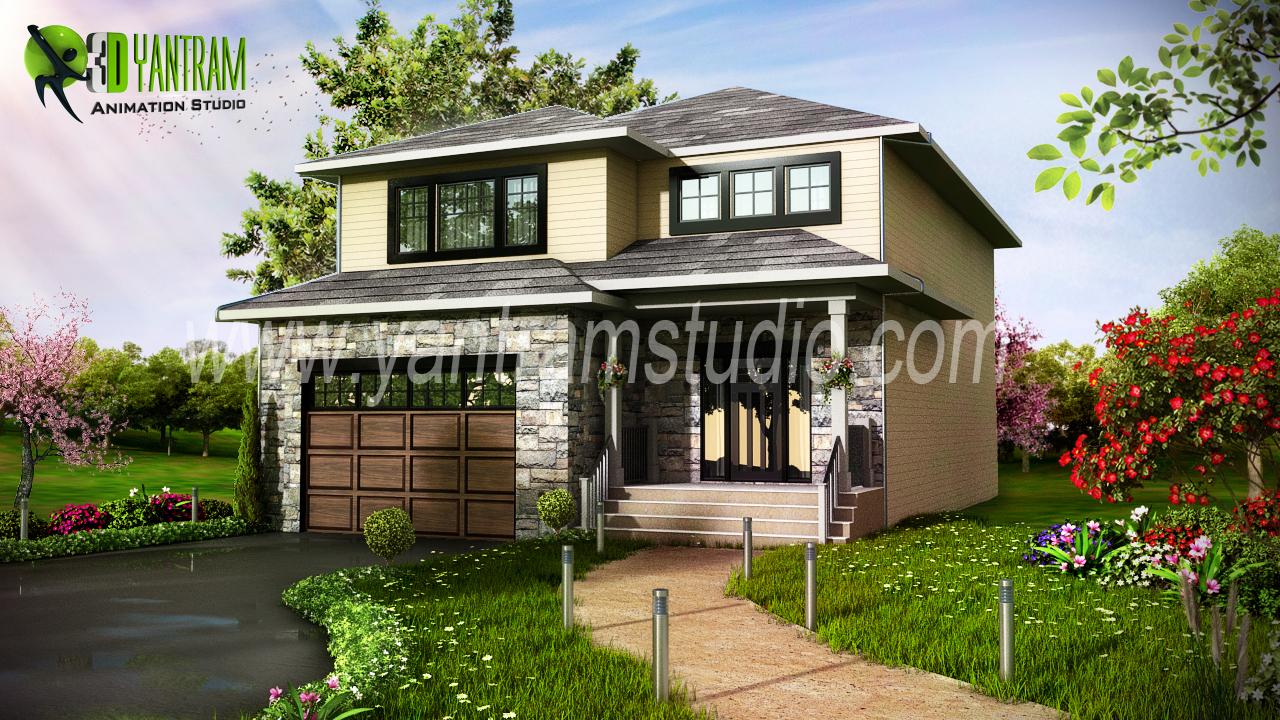Modern Home 3D Exterior Design
