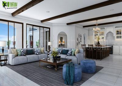 Modern Living Room and Kitchen Design