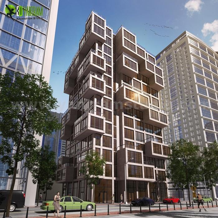 High Rise Commercial Modern Elevation Design Ideas Egypt