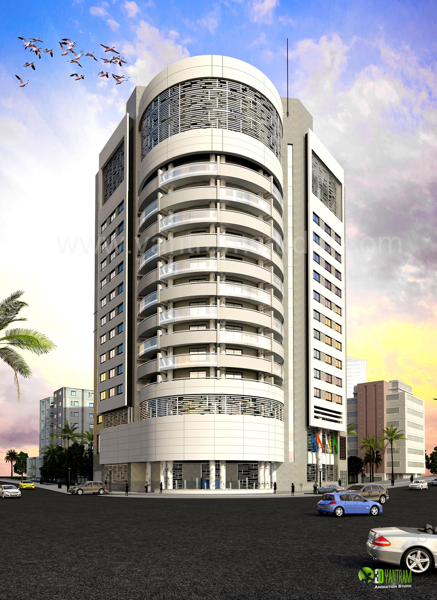 Exterior: 3D Corporate Architectural Exterior Design Rendering