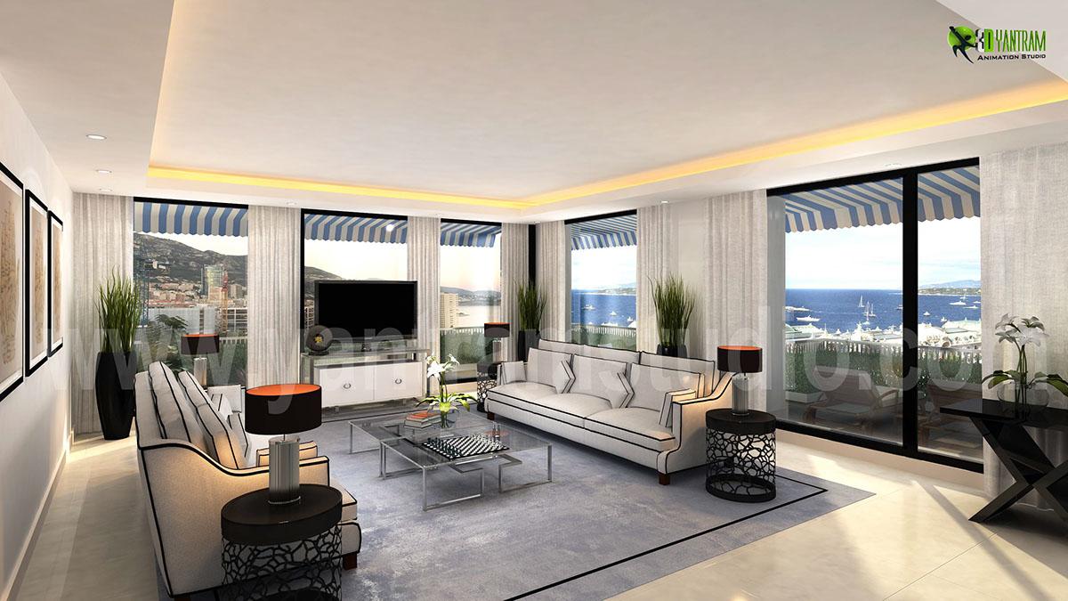 3d Interior Living Room Design Rendering Yantramstudio