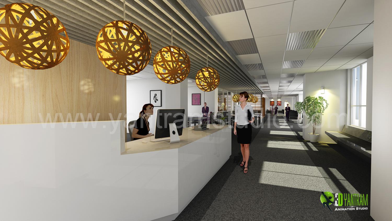 3d Interior Design Rendering For Office Yantramstudio