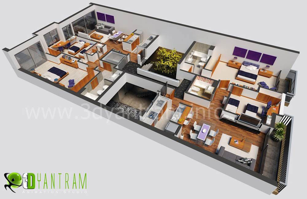 3D Floor Plan Design | yantramstudio | Foundmyself