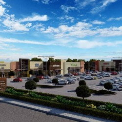 Exterior Design Rendering For Commercial Parking Area